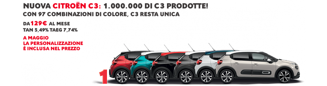 1.000.000 di C3 prodotte